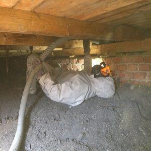 Zateplení foukanou izolací staršího domku po rekonstrukci